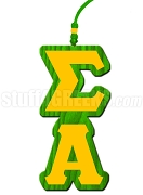 Sigma Alpha Greek Letter Tiki Necklace