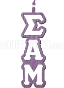 Sigma Alpha Mu Greek Letter Tiki Necklace