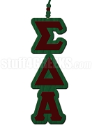 Sigma Delta Alpha Greek Letter Tiki Necklace