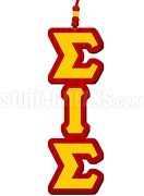 Sigma Iota Sigma Multicultural Sorority Greek Letter Tiki Necklace