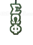 Sigma Omega Phi Greek Letter Tiki Necklace