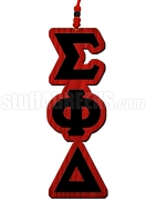 Sigma Phi Delta Greek Letter Tiki Necklace