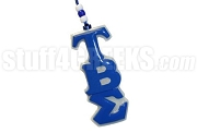 Tau Beta Sigma Tiki Necklace with Greek Letters, Royal Blue