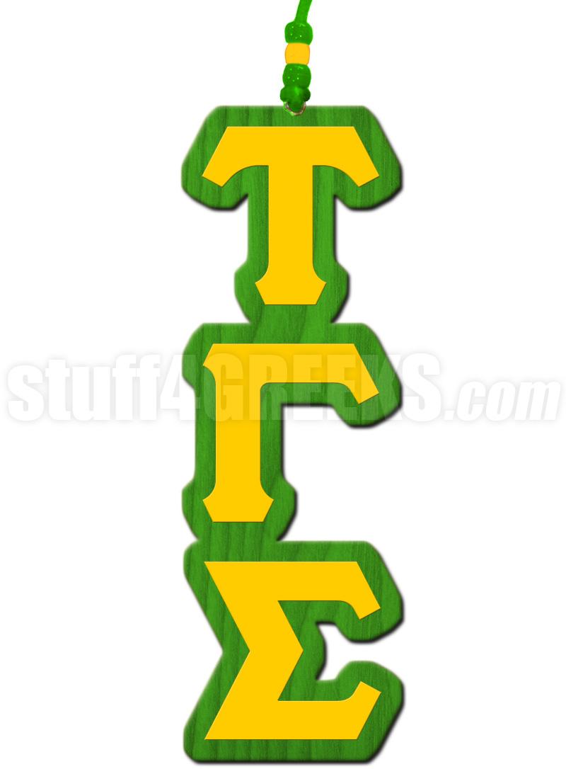 Tau Gamma Sigma Greek Letter Tiki Necklace