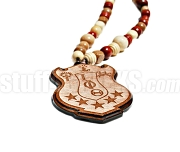 XXL Wooden Iota Phi Theta Tiki Crest Necklace (8.5 in. tall x 0.75 in. thick)