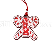 Kappa Alpha Psi Cane Tiki Necklace with Greek Letters