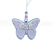 Theta Nu Xi Butterfly Tiki Letter Necklace