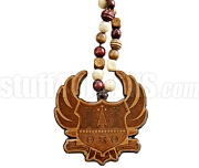 Theta Xi Theta Wooden Crest Tiki Necklace