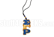 Sigma Gamma Rho Letters Tiki with 10 Pearls and 2 Rubies