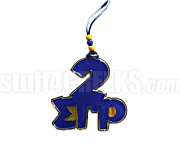 Sigma Gamma Rho Line Number Over Team Spirit Letters Tiki (Customize with Your Line Number)