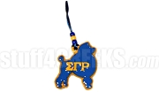Sigma Gamma Rho Poodle Tiki Necklace with Letters