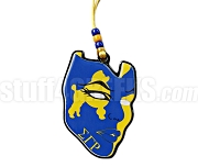 Sigma Gamma Rho Mask Tiki Letter Necklace with Poodle