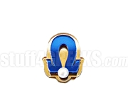 Omega Pearl Lapel Pin with Pearl on Greek Letter Omega