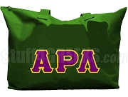 Alpha Rho Lambda Tote Bag with Greek Letters, Forest Green
