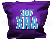 Chi Nu Alpha Tote Bag with Greek Letters, Purple