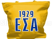 Epsilon Sigma Alpha Tote Bag with Greek Letters and Founding Year, Gold