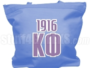 Kappa Phi Club Tote Bag with Greek Letters and Founding Year, Light Blue