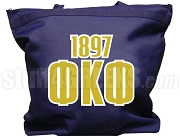 Phi Kappa Phi Tote Bag with Greek Letters and Founding Year, Navy Blue