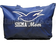 Sigma Mom Tote Bag with Dove, Royal Blue
