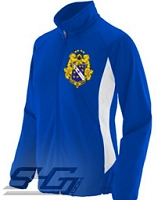 Alpha Phi Omega Large Crest Track Jacket (Ladies), Royal/White