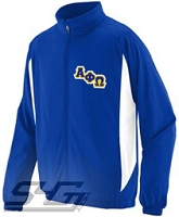 Alpha Phi Omega Logo Track Jacket (Men's), Royal/White