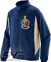 Alpha Kappa Psi Large Crest Track Jacket (Men's), Navy/Vegas Gold