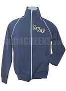 Alpha Kappa Psi Logo American Apparel Track Jacket, Navy