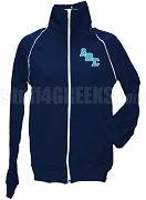 Alpha Beta Sigma Logo Letter Track Jacket, Navy Blue