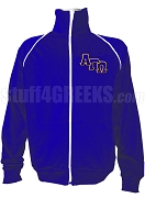Alpha Gamma Omega Logo Letter Track Jacket, Royal Blue