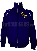 Alpha Psi Rho Logo Letter Track Jacket, Navy Blue