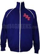 Alpha Sigma Upsilon Men's Logo Letter Track Jacket, Navy Blue