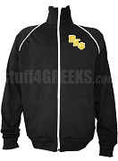 Beta Kappa Psi Logo Letter Track Jacket, Black