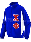 Chi Phi Track Jacket with Greek Letters, Royal Blue
