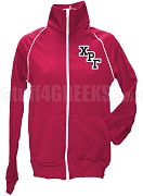 Chi Rho Gamma Logo Letter Track Jacket, Cranberry
