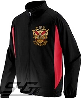 Phi Mu Alpha Large Crest Track Jacket, Black/Red