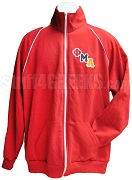 Phi Mu Alpha Logo Track Jacket, Red