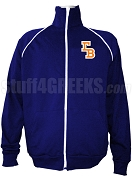 Gamma Beta Logo Letter Track Jacket, Navy Blue
