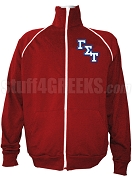 Gamma Sigma Tau Logo Letter Track Jacket, Red