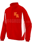Kappa Alpha Order Track Jacket with Logo Letters, Red