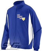 Kappa Kappa Psi Logo Track Jacket, Royal/White Unisex Jacket
