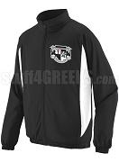 Knights Fraternity, Inc. Track Jacket with Crest, Black