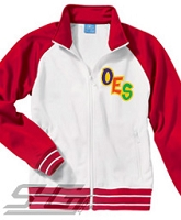 OES Orbit Logo Track Jacket, White/Red - SOLD OUT