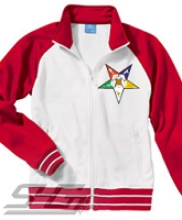 Eastern Star Track Jacket, White/Red - SOLD OUT