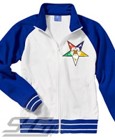 Eastern Star Track Jacket, White/Royal - SOLD OUT