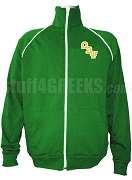Omega Beta Psi Logo Letter Track Jacket, Kelly Green