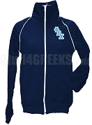 Phi Beta Chi Logo Letter Track Jacket, Navy Blue