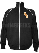 Phi Beta Epsilon Men's Logo Letter Track Jacket, Black