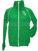 Phi Beta Pi Ladies Logo Letter Track Jacket, Kelly Green