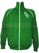 Phi Beta Pi Men's Logo Letter Track Jacket, Kelly Green