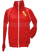 Phi Delta Chi Ladies Logo Letter Track Jacket, Red